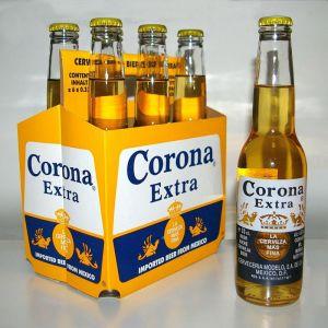 Un pack de bières avec 5 bières.