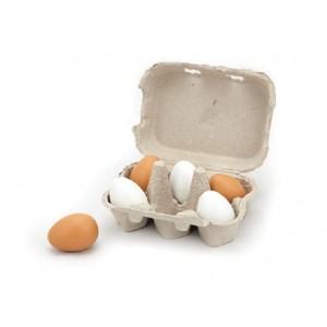 Une boîte d'oeufs avec 5 oeufs
